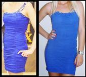 Šaty kráľovská (námornícka modrá) S/M, 36
