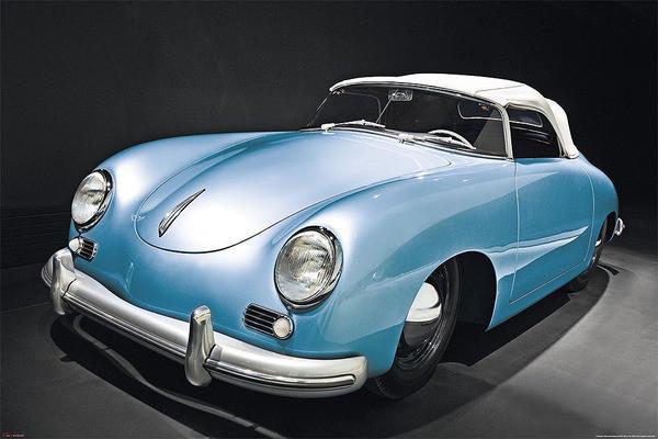 Inspirace dětské pokojíčky - Plakát Porsche speedster - oldtimer