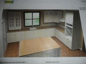 finální vizualizace kuchynky BODBYN  z IKEA