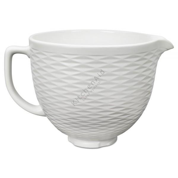 KitchenAid keramická mísa bílá embosovaná (4,83l) 5KSMCB5TLW