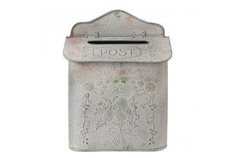 Šedá vintage poštovní schránka -LAHOME.CZ