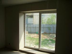 terasové dvere v obývačke