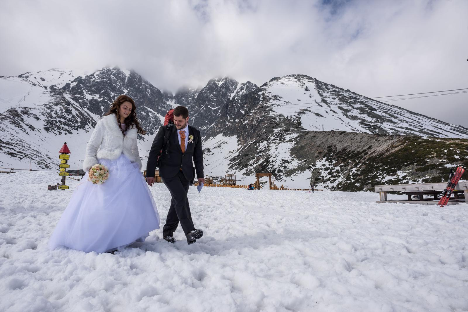 Zimná svadba keď je... - Obrázok č. 1