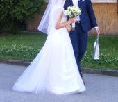 Svadobné šaty (36/160cm), 36