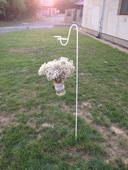 Háky na zavěšení váz s jutou a krajkou,