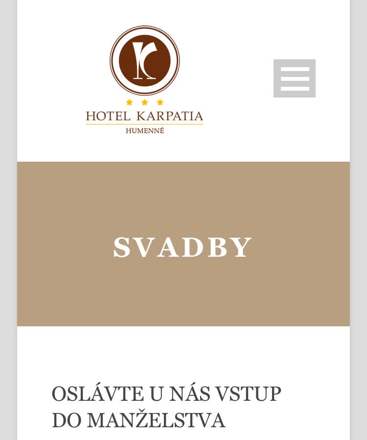 Moje sny ... - Svadobnú veselicu budeme mať v hoteli Karpatia 💁🏻♀️ Cezpoľní budú taktiež ubytovaní vo vynovených izbách. Pre nás naj hotelík