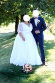 Svatební šaty vel. 50 - 54, 52