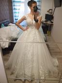 Tylové svatební šaty pro princeznu, 36