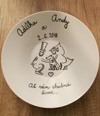 Svatební talíř,