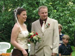 nevěsta a ženich před obřadem