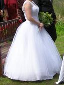 svatební šaty tylové se šněrovačkou vel.36-42, 38