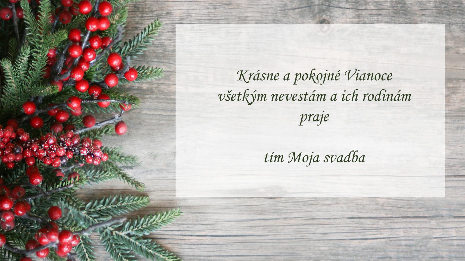V mene celého tímu Mojej svadby vám želám krásne Vianoce plné radosti, pokoja a lásky ❤️ - Obrázok č. 1