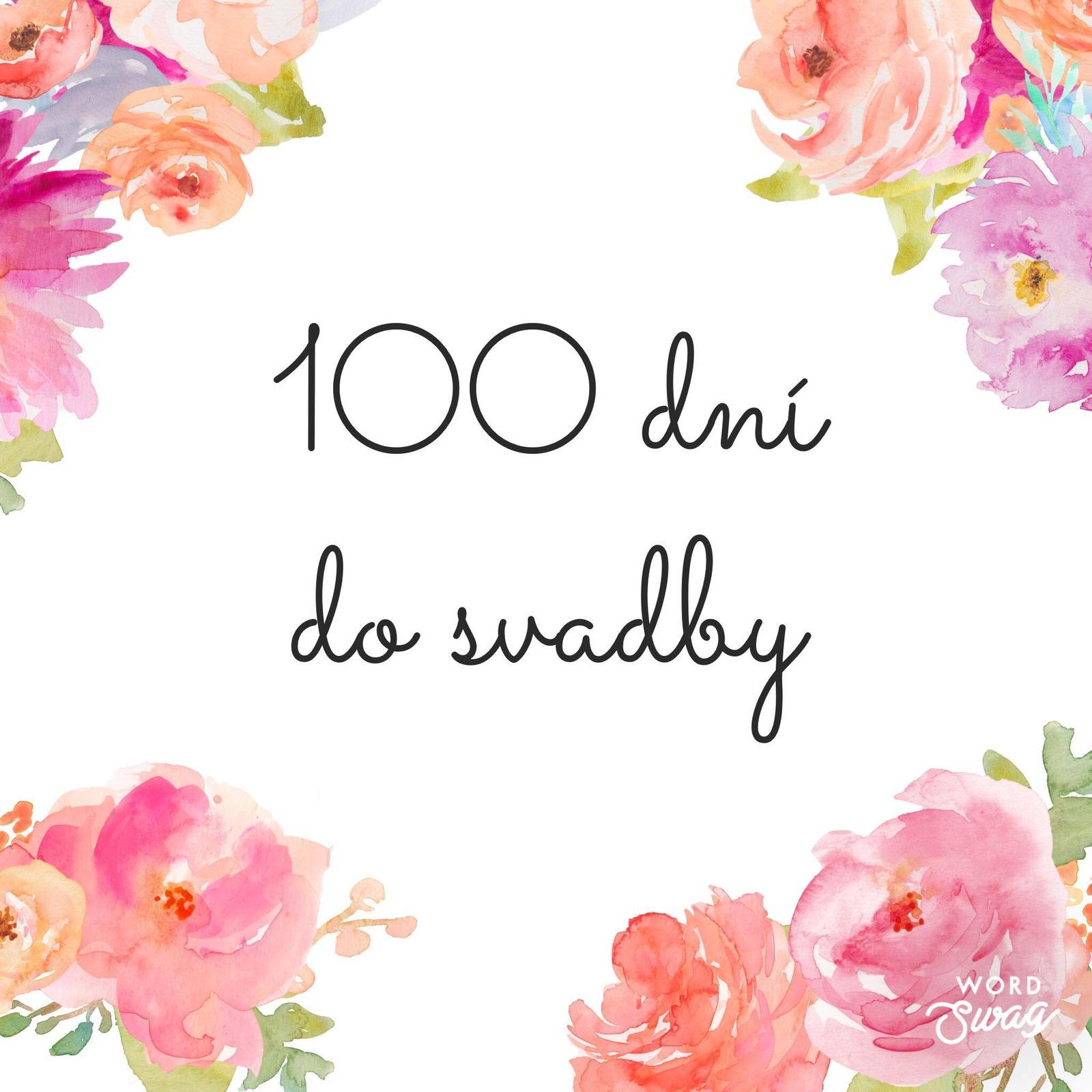 A je to tu! Tento rok je veľmi žiadaným termínom 1. 6. 2019 :) A práve dnes majú všetky tieto nevesty presne 100 dní do svadby!  Čo už máte vybavené, pripravené a čo vás ešte čaká? Teším sa na vaše odpovede :) - Obrázok č. 1