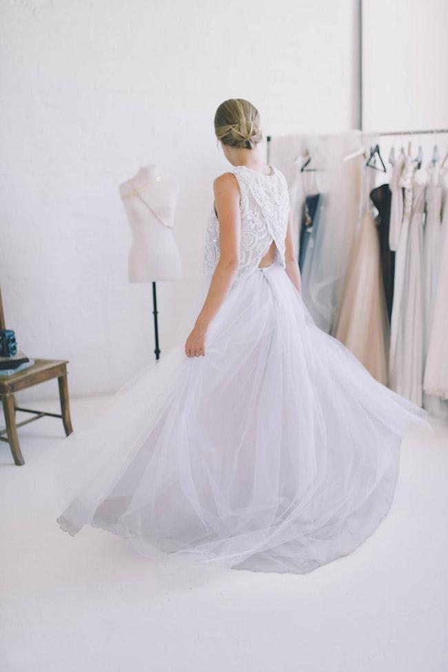 Dvojdielne svadobné šaty - Obrázok č. 3