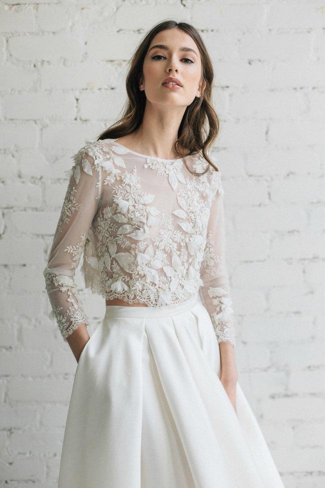Dvojdielne svadobné šaty - Obrázok č. 5