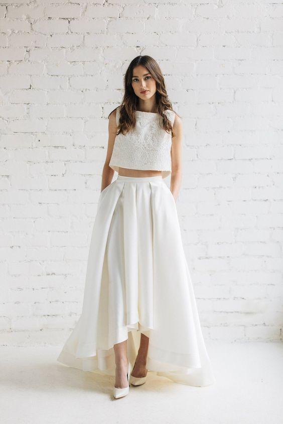Dvojdielne svadobné šaty - Obrázok č. 12
