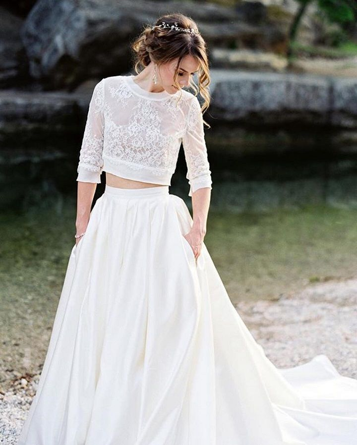 Dvojdielne svadobné šaty - Obrázok č. 39