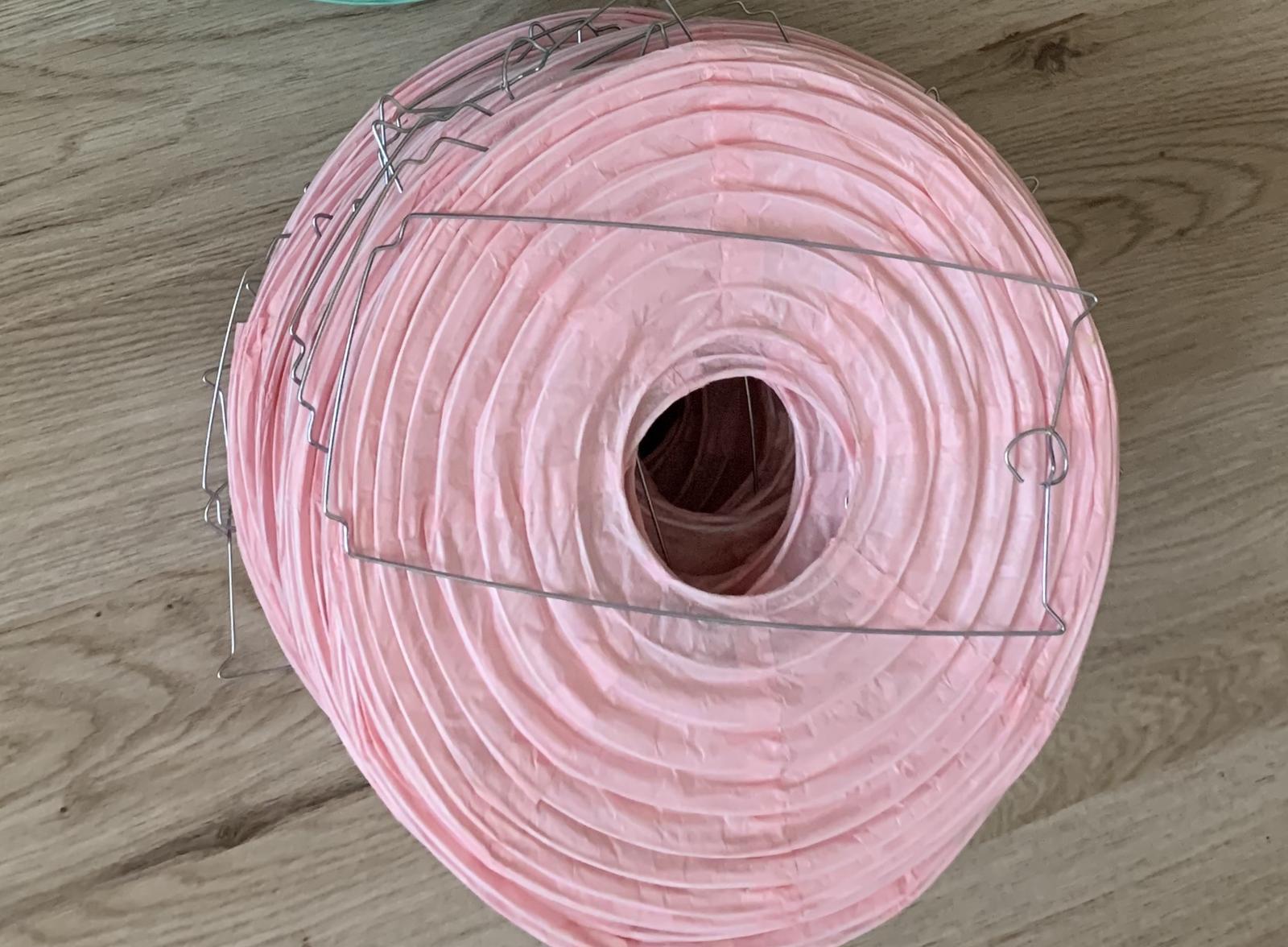 Lampion světle růžová - Obrázek č. 1