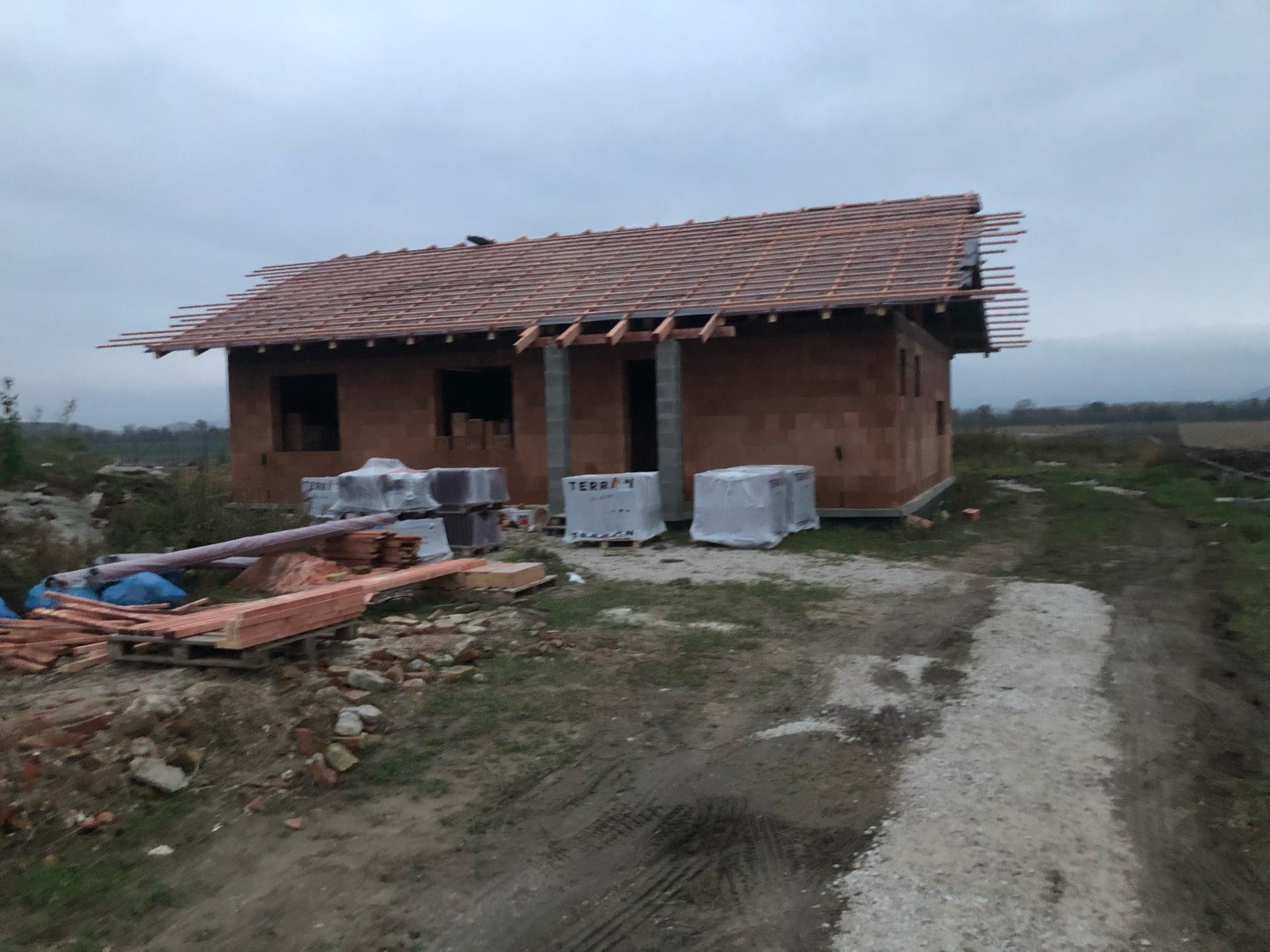 Náš domov :) - Dnes dokončená parozábrana