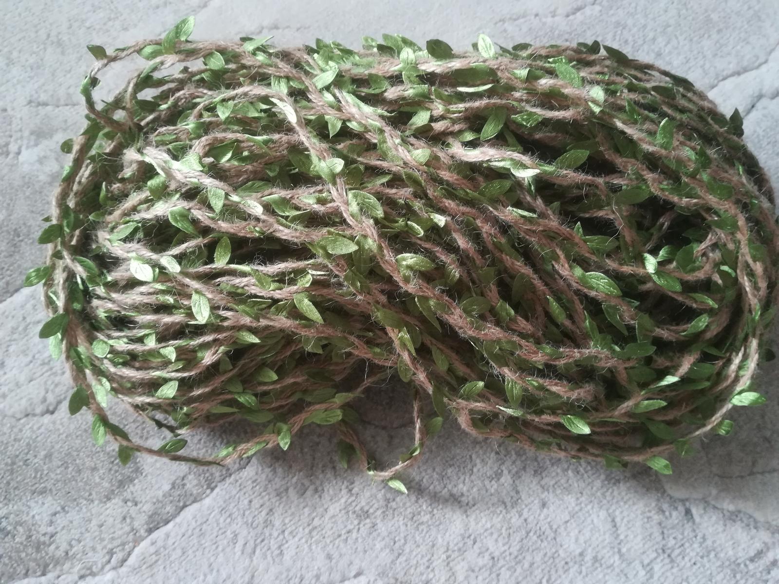 jutový špagát so zelenými listami - Obrázok č. 2
