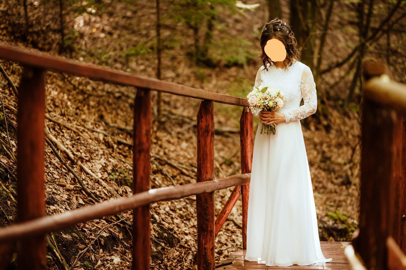 Svadobné šaty vo vintage štýle pre nižšie nevesty :-) - Obrázok č. 1
