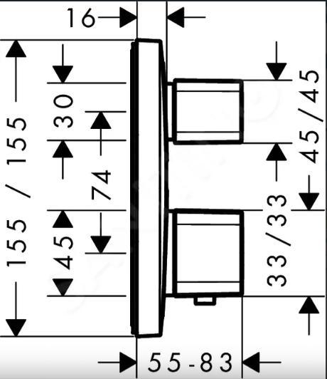 Hansgrohe Ecostat E - Termostatická batéria pod omietku - Obrázok č. 2