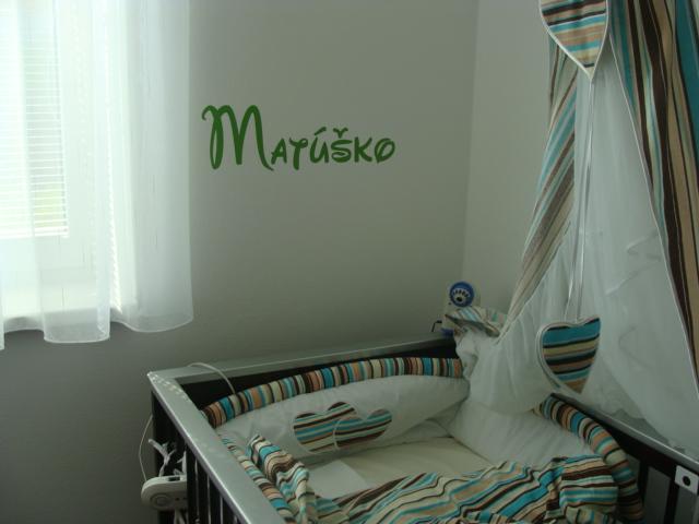 Matúškova detská izba - a pribudli nalepky