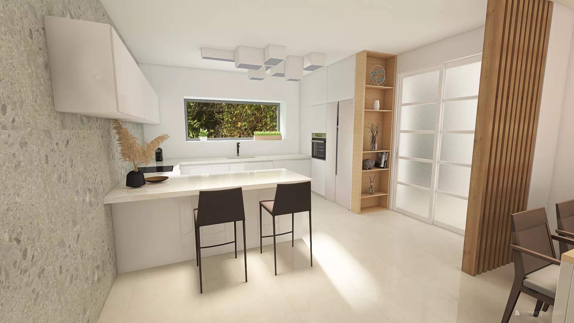 Staviame Pod vinohradmi 🍇 - Z chodbičky vstup do kuchyne. Keďže sme na projekte boli obmedzení m² kvôli podmienkam výstavby, navrhli sme si domček tak, aby nikde nebola zbytočná dlhá chodba.