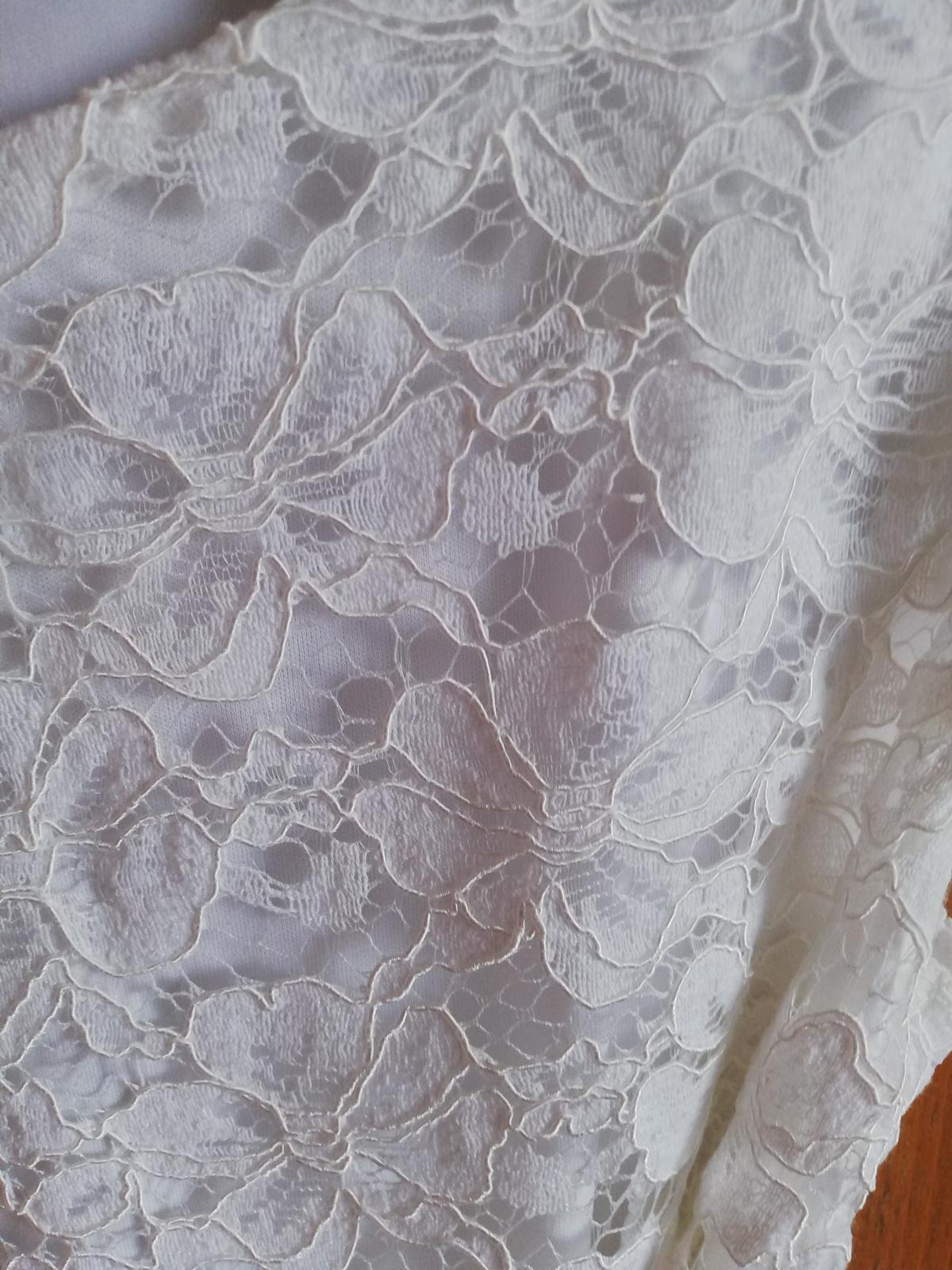 Prodám svatební smetanové šaty - Obrázek č. 1