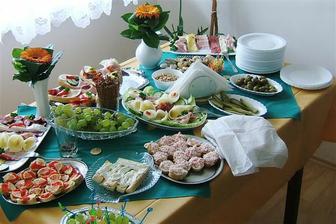 občerstvení u nás doma