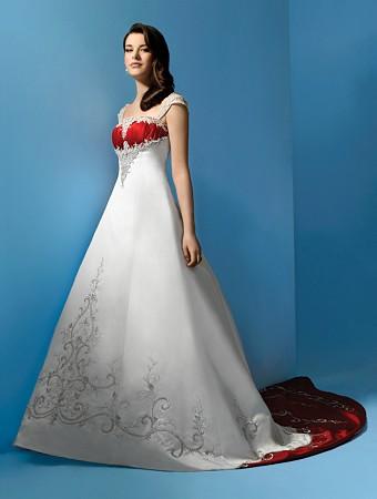 Krááásne červeno-biele šaty - Obrázok č. 4