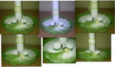 takto nejako si pripravím sviečky na stoly .... na obr. zatiaľ len prac.verzia