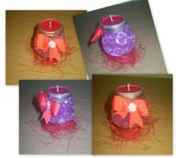 sviečky č.2 na stoly, taktiež prac. verzia. originál v deň D bude v zelenej farbe  :-)))