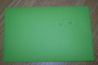 včera som konečne urobila obálky na svadobné oznámenia