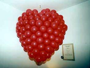 balonove srdiecko, v ruzovej farbe vsak