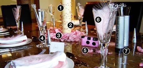 MY WEDDING IDEAS - ako by mali vyzerat stoly, v ruzovej farbe