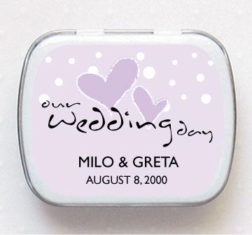 MY WEDDING IDEAS - darceky pre hosti v podobe cukrikov s vlastnymi menami