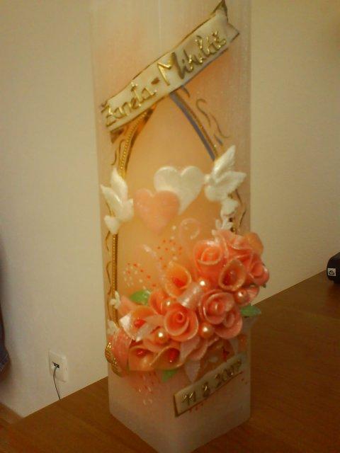 Naša predsvadobná príprava - naša svadobná sviečka