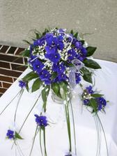 Moje svatební kytice - africké fialky/ My wedding bouquette