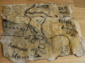 mapa k pokladu
