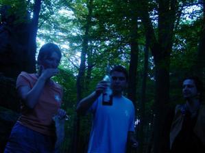 Nejdřív jsme museli najít Golema,  který hlídal flašku..