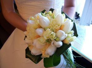 moje kytička z tulipánů, bohužel se nedají usušit a brzy se rozevřou