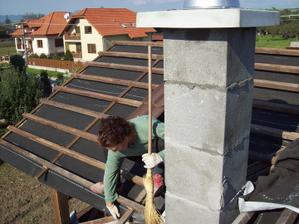 vrabec na streche :D