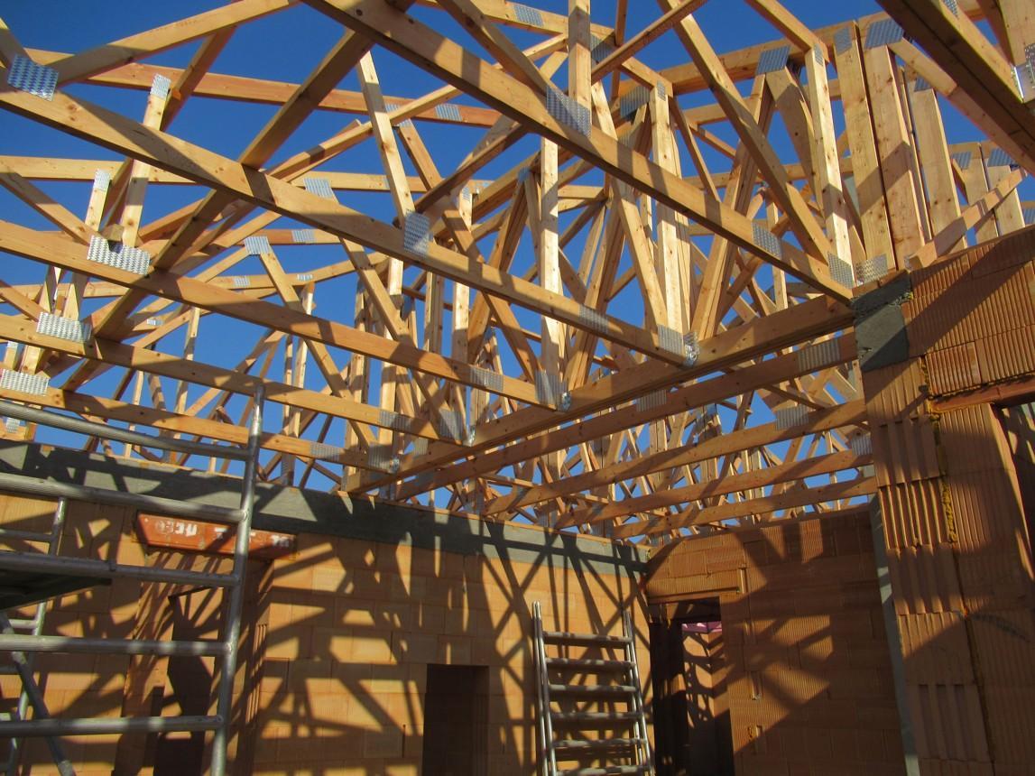 Väzníková strecha na kľúč s krytinou Terran Danubia EVO Carbon Horné Krškany okr. Nitra - Obrázok č. 14