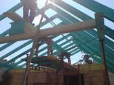 Montáž krovu na garáž šurany