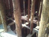 Detail nadpájania stlpov