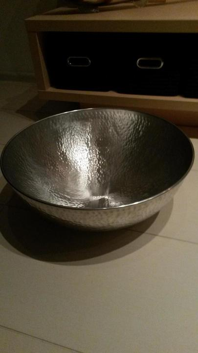 Hliníková misa - pôjde ku peci na brikety :-)