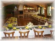 Hostína / Situación de las mesas durante el banquete