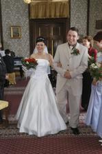 Novomanželé odchází