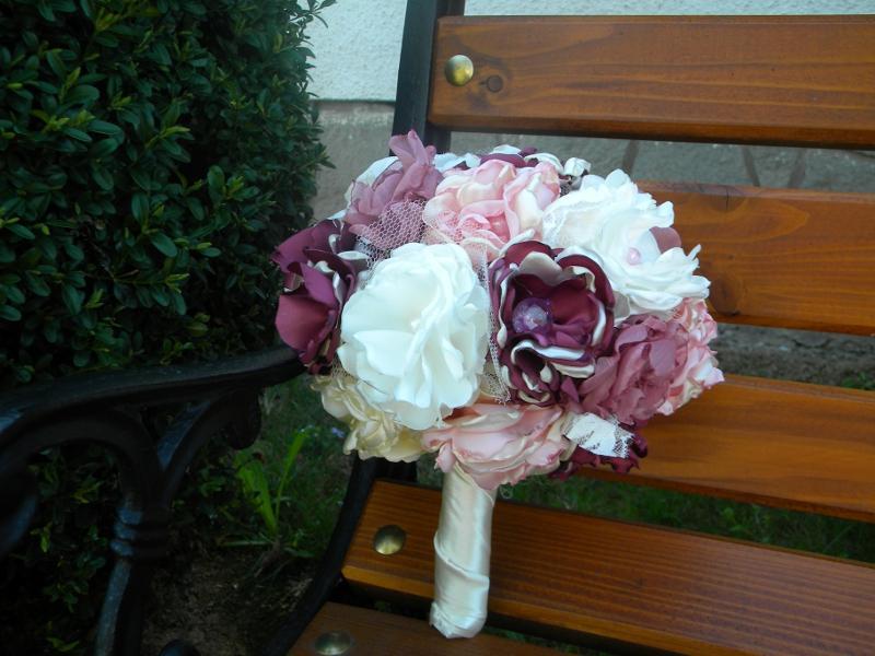 Látková kytica-pivonková , pošta v cene - Obrázok č. 4